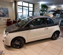 Car wrapping black & jeans Fiat 500