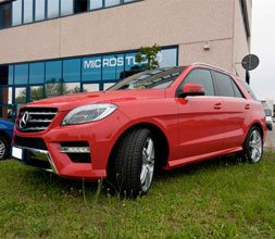 Car wrapping Mercedes SL 350 Rosso Lucido