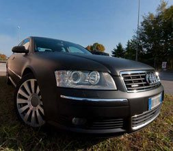 Car wrapping Nero Opaco Audi A8